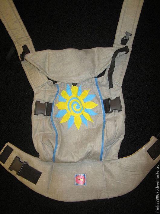 Слинги ручной работы. Ярмарка Мастеров - ручная работа. Купить Эргономичный рюкзак с ручной росписью. Handmade. Серый