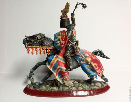 Миниатюрные модели ручной работы. Ярмарка Мастеров - ручная работа. Купить оловянный солдатик, конный рыцарь с булавой. Handmade. миниатюра