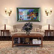 """Картины ручной работы. Ярмарка Мастеров - ручная работа Картина вышитая  бисером """"Париж в цветах"""". Handmade."""