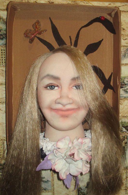 Портретные куклы ручной работы. Ярмарка Мастеров - ручная работа. Купить портретная кукла панно по фотографии. Handmade. Комбинированный, капрон