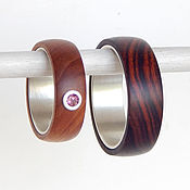 Украшения handmade. Livemaster - original item paired rings of wood.. Handmade.