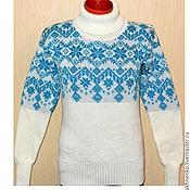 Одежда handmade. Livemaster - original item Women`s sweater with Norwegian pattern stars. Handmade.