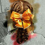 Украшения ручной работы. Ярмарка Мастеров - ручная работа Бант для волос на резинке. Handmade.