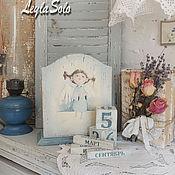 Канцелярские товары ручной работы. Ярмарка Мастеров - ручная работа Вечный календарь Ангел в подарок. Handmade.