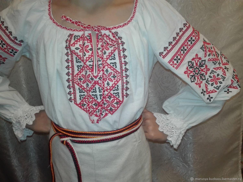 Детская рубашка с вышивкой в традиционном стиле. Костюм для сцены.(01), Народные рубахи, Кемерово,  Фото №1