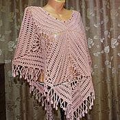 """Одежда ручной работы. Ярмарка Мастеров - ручная работа Пончо """"Розовый песок"""". Handmade."""
