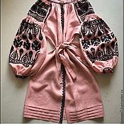 Одежда ручной работы. Ярмарка Мастеров - ручная работа Вышитая заготовка к платью. Handmade.
