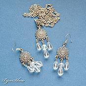 Украшения handmade. Livemaster - original item Earrings and pendant with crystal beads