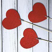 Декор для флористики ручной работы. Ярмарка Мастеров - ручная работа Топпер сердце. Handmade.