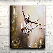 """Картины и панно ручной работы. Ярмарка Мастеров - ручная работа Картина масло холст """"Танцовщица"""". Handmade."""