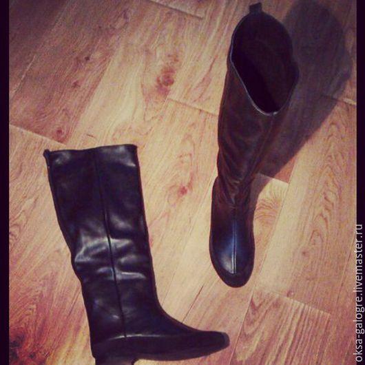 Обувь ручной работы. Ярмарка Мастеров - ручная работа. Купить сапоги зима. Handmade. Черный, обувь ручной работы
