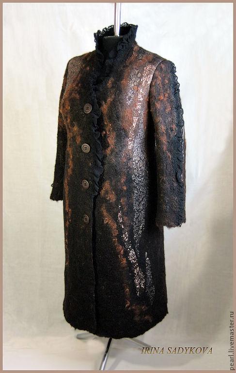 """Верхняя одежда ручной работы. Ярмарка Мастеров - ручная работа. Купить Пальто валяное """"Мечты о Риме"""". Handmade. Черный, осень"""