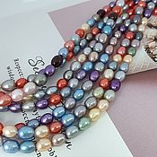Материалы для творчества handmade. Livemaster - original item 1/2 strand Pearl natur. rice approx. 5,5-6 mm (thickness) mix (5315). Handmade.