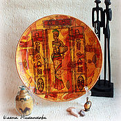 Картины и панно ручной работы. Ярмарка Мастеров - ручная работа Тарелка Африка. Handmade.