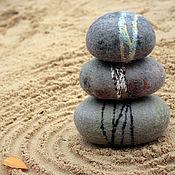 Для дома и интерьера ручной работы. Ярмарка Мастеров - ручная работа Сад камней (войлок). Handmade.