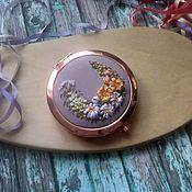 Сувениры и подарки handmade. Livemaster - original item Mirror pocket with embroidery silk ribbons. Handmade.