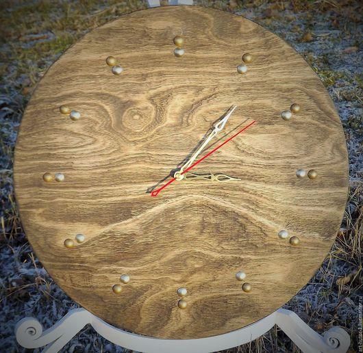 """Часы для дома ручной работы. Ярмарка Мастеров - ручная работа. Купить Часы деревянные """"Горный пейзаж"""". Handmade."""