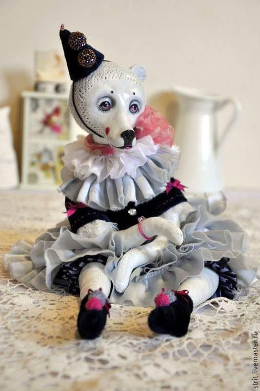 Мишки Тедди ручной работы. Ярмарка Мастеров - ручная работа. Купить Будуарная Мишка. Handmade. Белый, медведица, текстиль