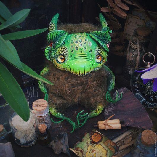 Коллекционные куклы ручной работы. Ярмарка Мастеров - ручная работа. Купить Мандрагора. Handmade. Зеленый, Гарри Поттер, интерьерная игрушка