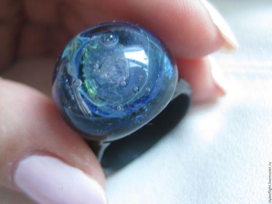 Кольца ручной работы. Ярмарка Мастеров - ручная работа. Купить Кольцо Галактика Синее благородство. Handmade. Тёмно-синий