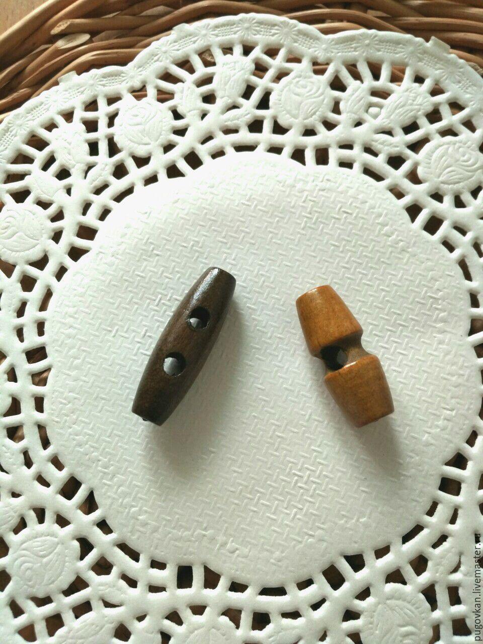 Пуговицы деревянные 3 см и 3,5 см, Пуговицы, Глазов, Фото №1