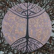 Музыкальные инструменты handmade. Livemaster - original item Three of the world. Tambourine Vedic light brown.. Handmade.