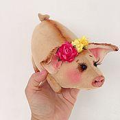 Куклы и игрушки ручной работы. Ярмарка Мастеров - ручная работа Поросёнок.  Свинка. Handmade.