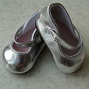 Куклы и игрушки ручной работы. Ярмарка Мастеров - ручная работа Серебристые туфельки для кукол беби бон ( baby born ). Handmade.