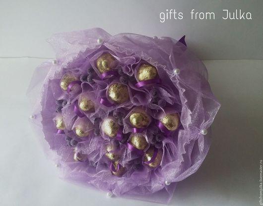 """Букеты ручной работы. Ярмарка Мастеров - ручная работа. Купить Букет из конфет """" Сиреневая ягодка"""". Handmade. Сиреневый, подарок"""