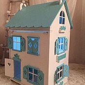 Кукольные домики ручной работы. Ярмарка Мастеров - ручная работа Кукольный домик со светом деревянный с именем кукла дом. Handmade.