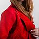 """Пиджаки, жакеты ручной работы. Жакет валяный """"Счастливый красный"""" дизайнер Татьяна Долубекова. Tatyana Dolubekova (charmer). Ярмарка Мастеров."""