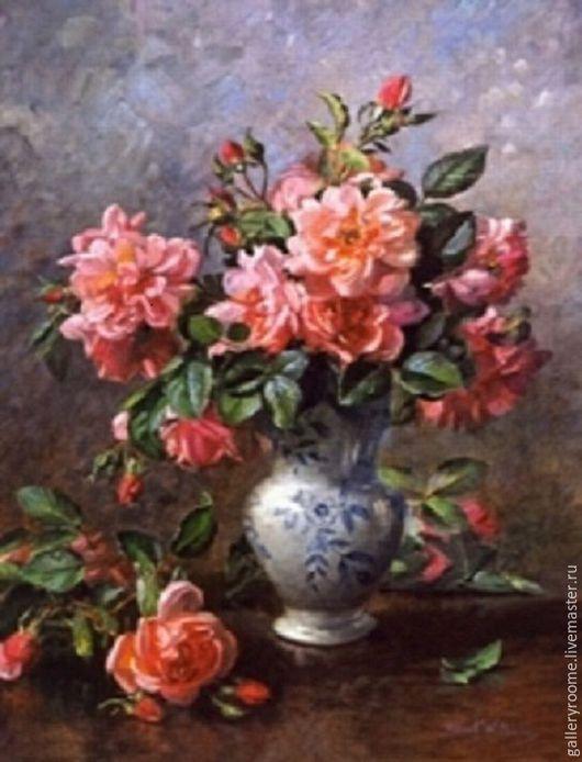 Другие виды рукоделия ручной работы. Ярмарка Мастеров - ручная работа. Купить Картина по номерам Розы в вазе Художник Альберт Уильямс. Handmade.