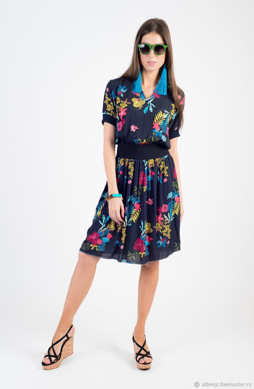 """Платья ручной работы. Ярмарка Мастеров - ручная работа. Купить Платье """"Тропическая ночь"""". Handmade. Платье, платье на каждый день"""