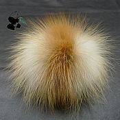 Материалы для творчества handmade. Livemaster - original item Fur pompons from fur of red Fox.. Handmade.