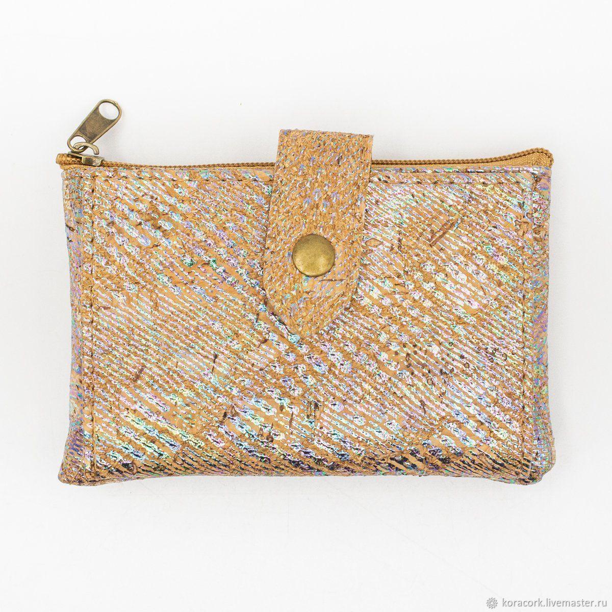 Bags & Accessories handmade. Livemaster - handmade. Buy Bright eco wallet female from Portuguese handmade cork.