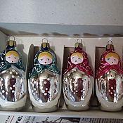 Подарки к праздникам ручной работы. Ярмарка Мастеров - ручная работа елочный набор Матрешки. Handmade.