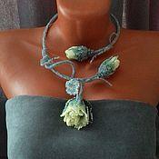 Украшения handmade. Livemaster - original item Necklace rose bead. Handmade.