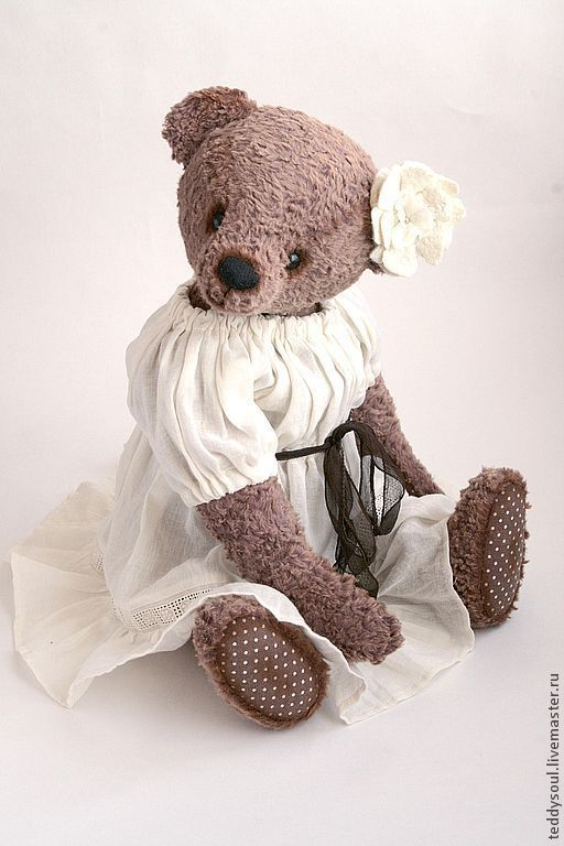 Мишки Тедди ручной работы. Ярмарка Мастеров - ручная работа. Купить Лола - Мишка-Тедди в стиле BOHO. Handmade. войлок