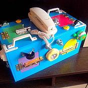 Бизиборды ручной работы. Ярмарка Мастеров - ручная работа Бизиборд Монтессори. Handmade.