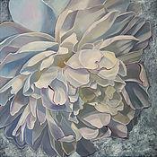 Картины и панно handmade. Livemaster - original item The picture of a Silver flower, oil on canvas 60h60. Handmade.