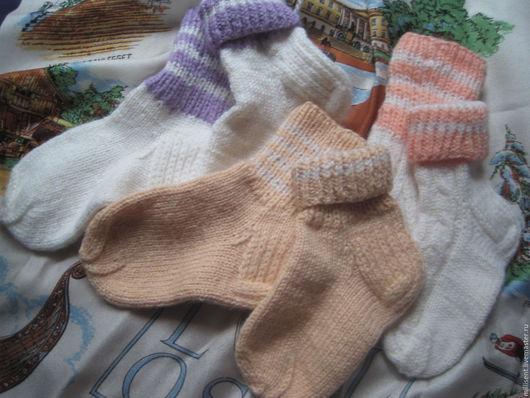 Носки, гольфы, гетры ручной работы. Ярмарка Мастеров - ручная работа. Купить Носочки детские маленькие. Handmade. Носки детские