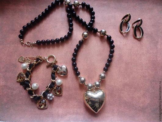 """Винтажные украшения. Ярмарка Мастеров - ручная работа. Купить Ожерелье """"Горячее сердце"""" из США, 70-е годы(КУ-132). Handmade."""