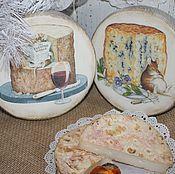 """Для дома и интерьера ручной работы. Ярмарка Мастеров - ручная работа """"Забавные мышата"""" сырные досочки. Handmade."""