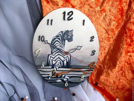 часы тигрОльги Марфиной, купить часы с тигром ручной работы.