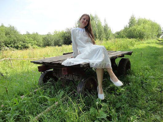 Платья ручной работы. Ярмарка Мастеров - ручная работа. Купить Сорочка-платье. Handmade. Женская одежда, женская рубашка