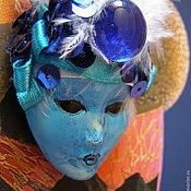 """Сувениры и подарки ручной работы. Ярмарка Мастеров - ручная работа Маска """"Плавалагуна"""" - магнитик. Handmade."""