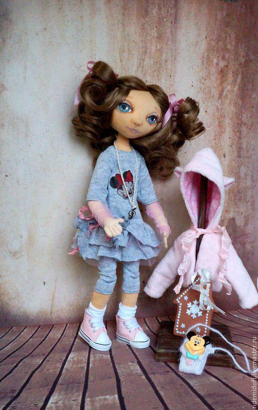 Коллекционные куклы ручной работы. Ярмарка Мастеров - ручная работа. Купить Катенька. Handmade. Розовый, текстильная кукла, керамика