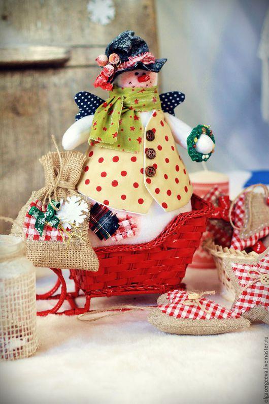 снеговик тильда ручной работы, снеговичок, снеговик,купить снеговика,новогодний снеговик,новогодний интерьер.новогодний подарок.сувенирснеговик