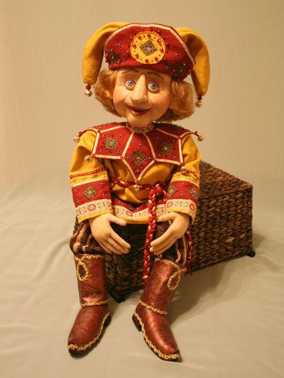 Коллекционные куклы ручной работы. Ярмарка Мастеров - ручная работа. Купить Кукла Скоморох. Handmade. Авторская работа, интерьерная кукла