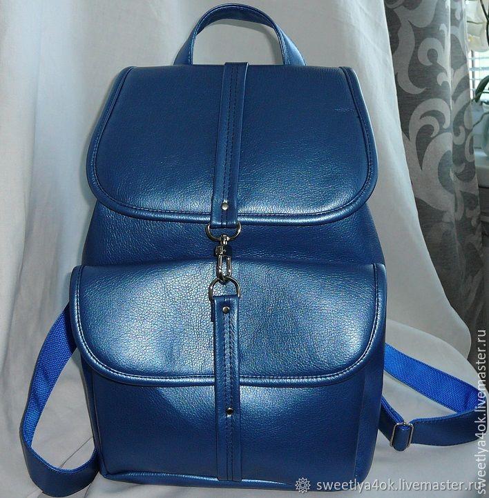 939632616dda0 Рюкзаки ручной работы. Ярмарка Мастеров - ручная работа. Купить Городской  рюкзак ЛАЗУРНЫЙ.